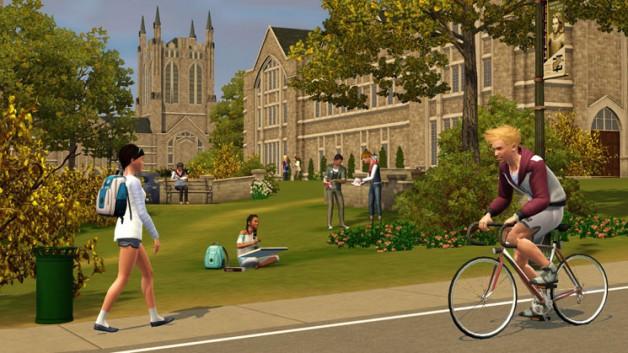 Simulation-Die-Sims-3-Wildes-Studentenleben-Campus